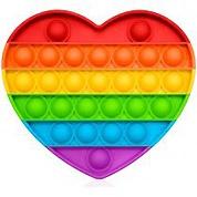 Игрушка-антистресс Pop It Сердце (разноцветная)