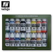 Набор красок Vallejo - Basic Colors USA (16 красок по 17 мл)