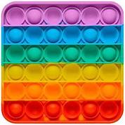 Игрушка-антистресс Pop It Квадрат (разноцветная)
