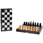 Шахматы: Черные с серебряным рисунком. 29х29см