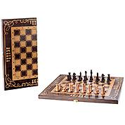 Шахматы: Бук цвета венге с орнаментом. 40х40см